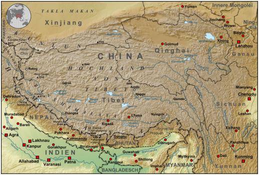 Source: http://en.wikipedia.org/wiki/File:Tibet_Karte_Topograpisch.png